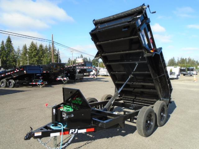 2021 PJ 5x10 Dump 10K With Ramps/Tarp Kit/Spare Tire Mount
