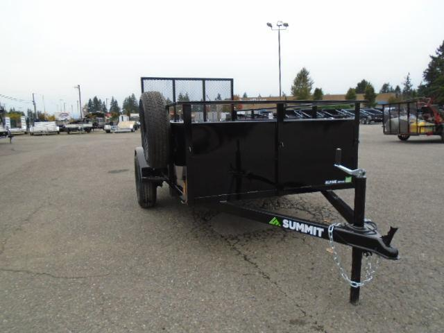 2022 Summit Alpine 5X10 Single Axle Utility Trailer With Spare Tire & Mount