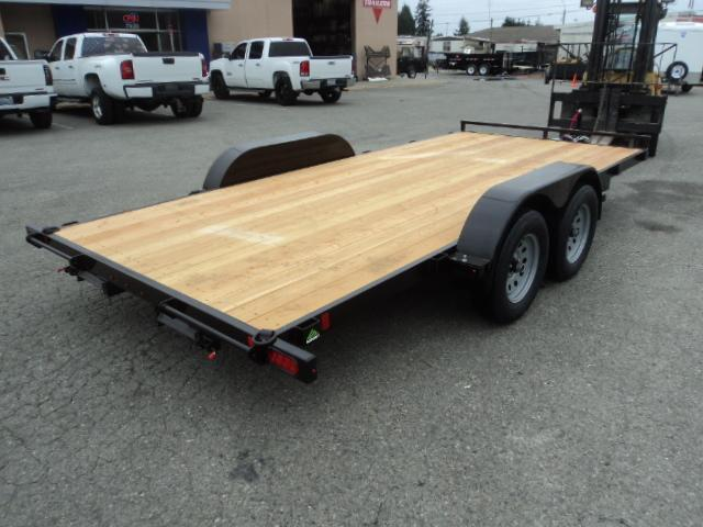 2021 Summit Alpine 7x16 7K Flatbed Car Hauler