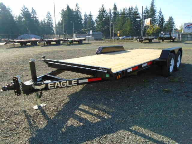 2020 Eagle Trailer 7x18 10k Tandem Axle Flatbed Trailer