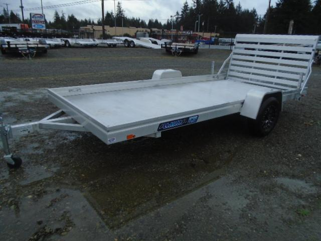 USED 2021 Aluma 7814 Edge Series Utility Trailer