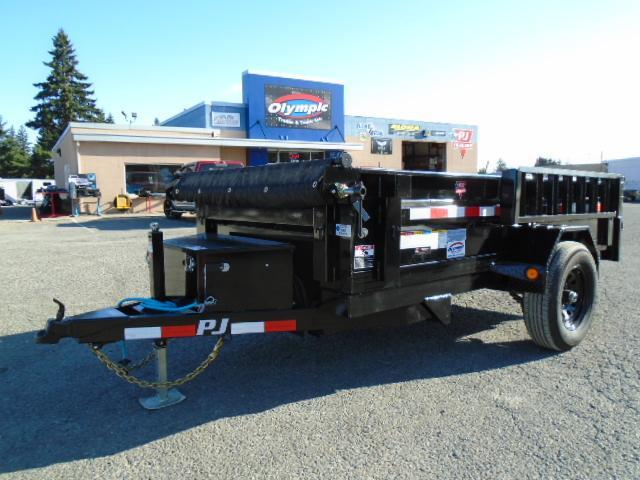 2022 PJ  5x10 5K w/Tarp Kit / Ramps Dump Trailer