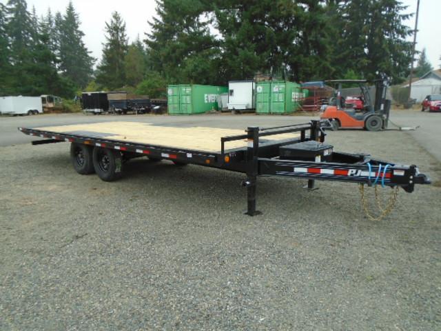 2021 PJ Trailers 8.5x22 (T8) 16K Deckover Tilt w/Winch Plate