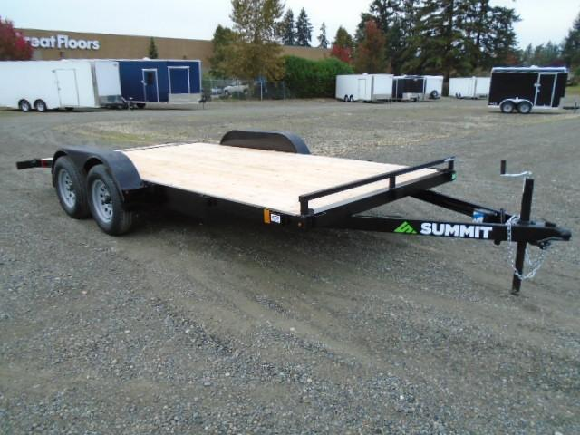 2021 Summit Alpine 7x16 7K Car / Racing Trailer Beavertail / Removable Fenders