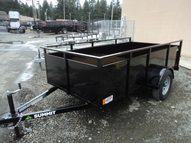 2021 Summit Alpine 5X8 Single Axle W/Split Ramp Utility Trailer