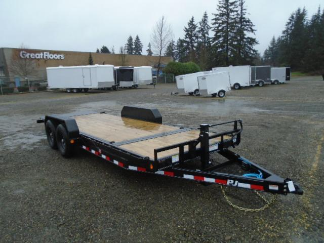 "2021 PJ Trailers 7x20 14K  6"" Channel Equipment Tilt Trailer"