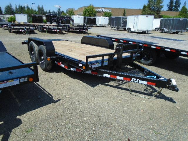 "2021 PJ Trailers 7X16 14k 6""Channel Equipment Tilt Trailer"