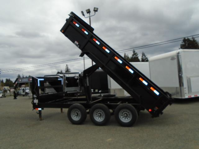2021 Load Trail 7X16 21K Gooseneck Dump With Scissor Lift/Tarp Kit/Ramps