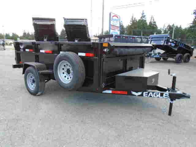 2022 Eagle Trailer 6x10 5K Dump Trailer w/Tarp Kit/Ramps/D-Rings/Spare Tire/Mount