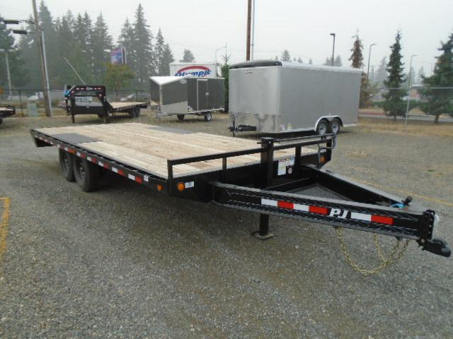 "2020 PJ 8.5X20 16K 8"" I-Beam Deckover (F8) Equipment Trailer"