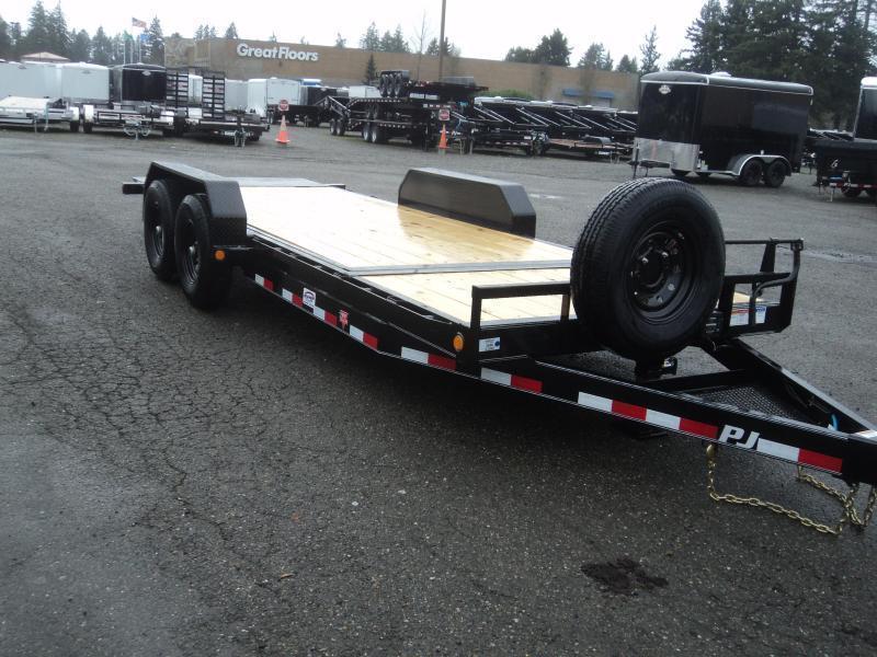 "2022 PJ Trailers 7x20 14K  w/Spare Tire 6"" Channel Equipment Tilt Trailer"