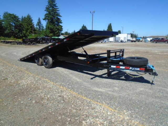 2022 PJ Trailers 8.5x22 (T8) 16K Deckover Power Tilt w/Spare Tire & Mount