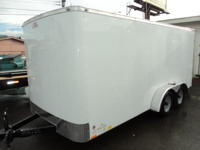 2021 Cargo Mate Challenger 7X16 7K W/Rear Ramp Door & Roof Vent