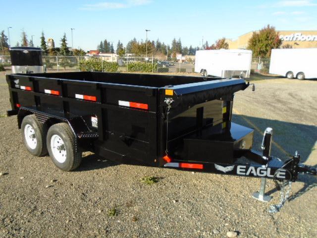 2021 Eagle Trailer 6x12 10K Dump Trailer w/Tarp Kit/Ramps/D-Rings
