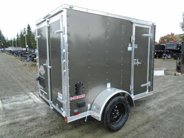 """2022 Cargo Mate E-Series 5x8 With 6"""" Extra Height / Wedge / 110V Pkg / Cargo Doors"""