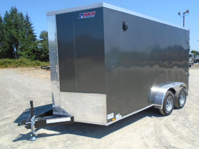"""2022 Pace American Journey SE 7x14 7K With 12"""" Extra Height / Screwless Exterior / Ramp Doors"""