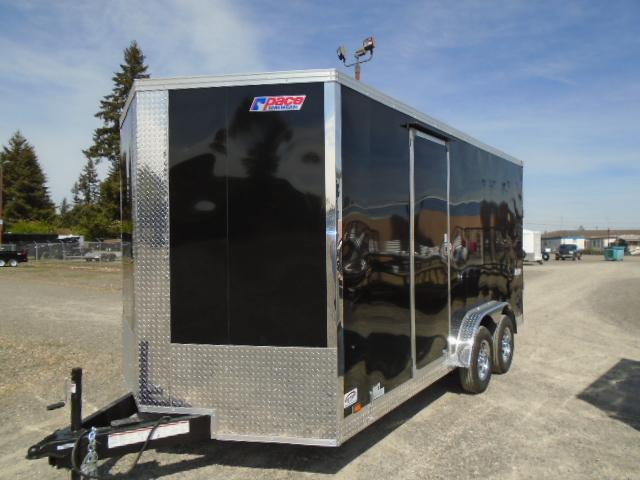 "2022 Pace American 7.5x16 7K With 12"" Extra Height / Ramp Door / Screwless Ext"