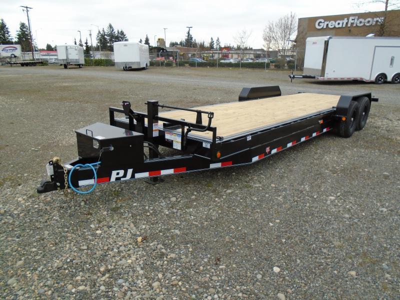 2021 PJ 7X24 14K Powered Full Tilt Equipment Trailer