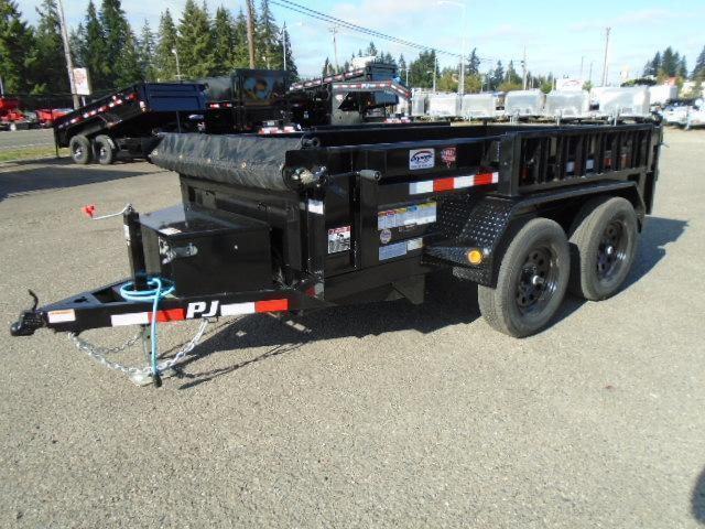 2021 PJ Trailers 5x10 7K w/Tarp Kit & Ramps Dump Trailer
