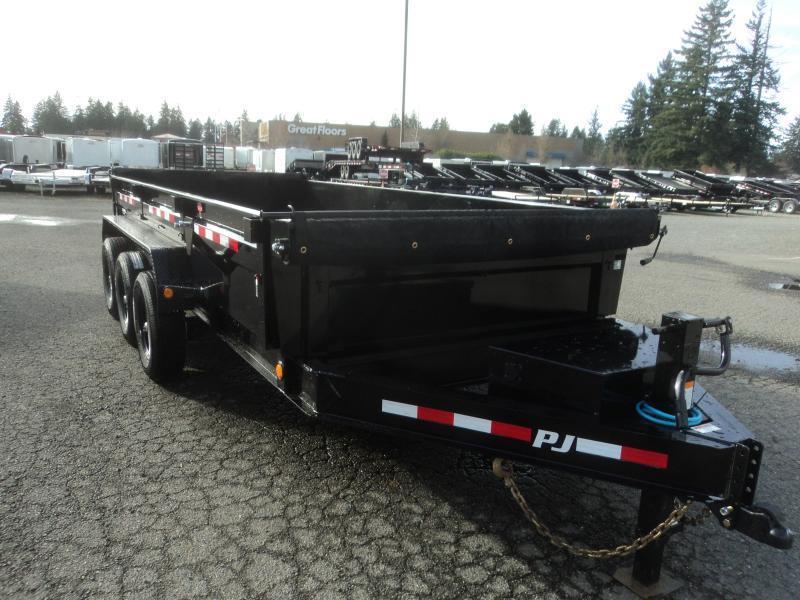 2022 PJ 7X16 21K Dump with Tarp Kit/12k Jack
