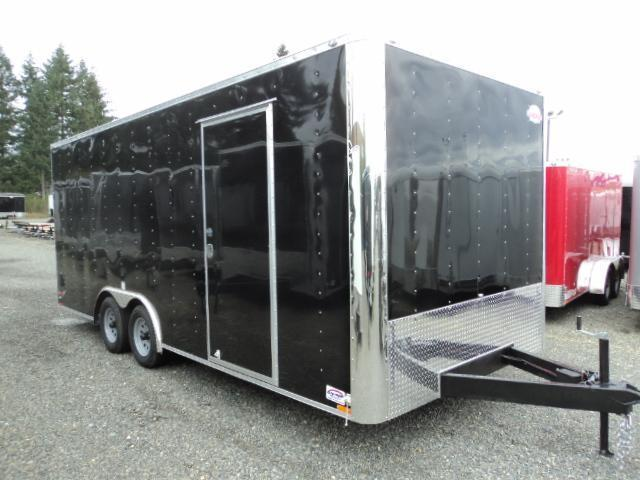 2021 Cargo Mate E-SERIES 8.5X20 7k w/Rear Ramp Door and D-Rings