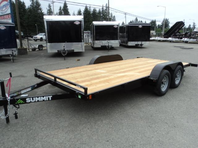 2021 Summit Alpine 7x16 7K Flatbed Car Hauler with Removable Fenders