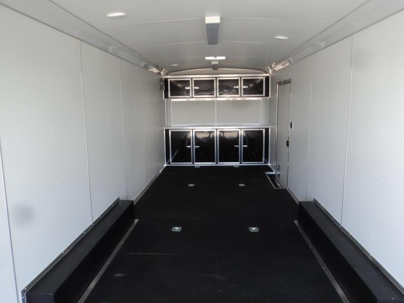 "2021 Cargo Mate Blazer 8.5x28 12K With Car Hauler Package With 12"" Extra Height / Ramp Door"
