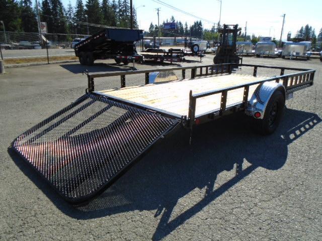 2021 PJ Trailers 6.5X14 Utility w/Side Mount ATV Ramps