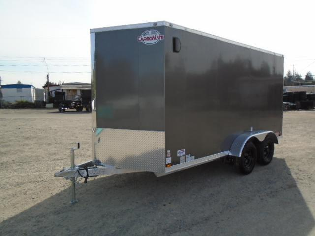 "2021 Cargo Mate Aluminum 7X14 7K With 6"" Extra Height / Ramp Door"