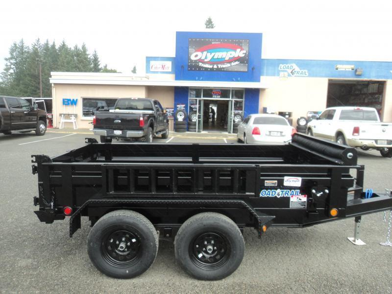 "2021 Load Trail 5X10 7K w/Tarp Kit/18"" Sides/Spare Tire Mount/5 Amp Rapid Charger/Side Mount Ramps"