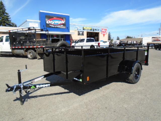 2022 Summit Alpine 6x12 Single Axle W/Split Ramp/Spare Tire & Mount Utility Trailer