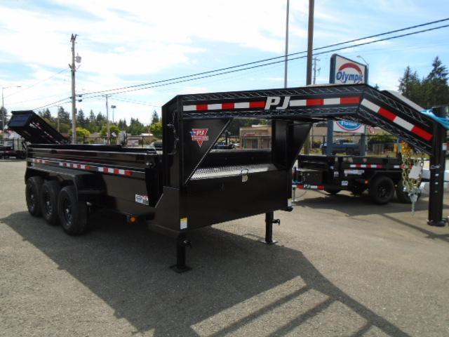2020 PJ Trailers 7X16 21k Gooseneck Dump w/Tarp Kit