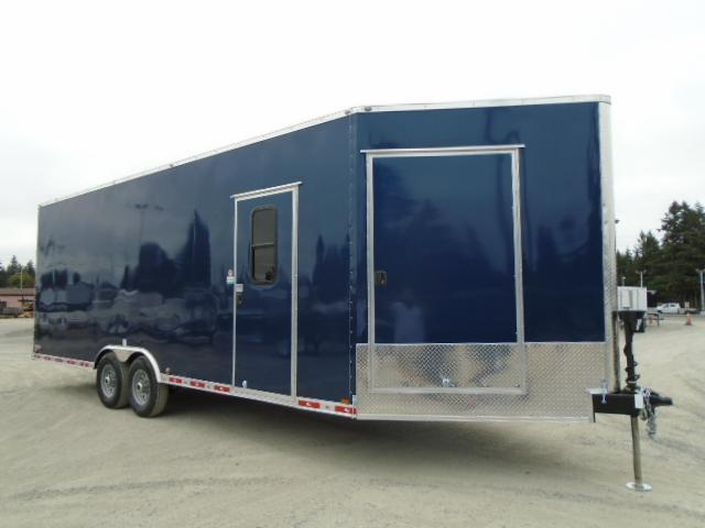 "2021 Cargo Mate E-Series 8.5x24 14K w/5 Foot Wedge & 18"" Extra Ht Enclosed Cargo Trailer"