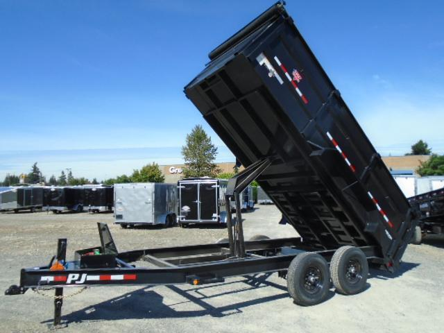 2021 PJ Trailers 7X16 14K High Side Dump Trailer w/10k Jack