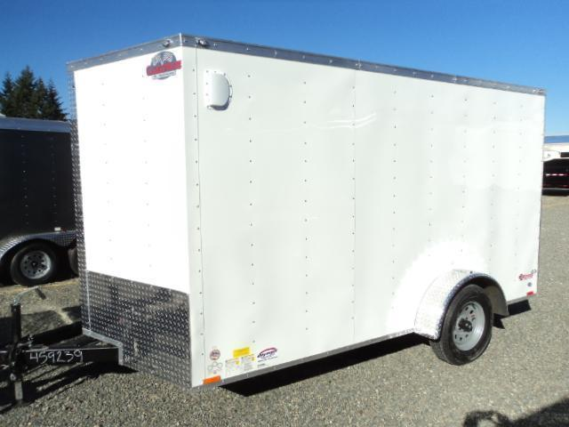 2021 Cargo Mate 7X12 Single Axle wedge with Ramp Door/Extra Height