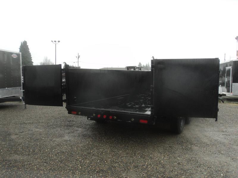 """2021 PJ 7x16 20K Heavy Duty 10"""" I-Beam Low-Pro Dump Trailer"""