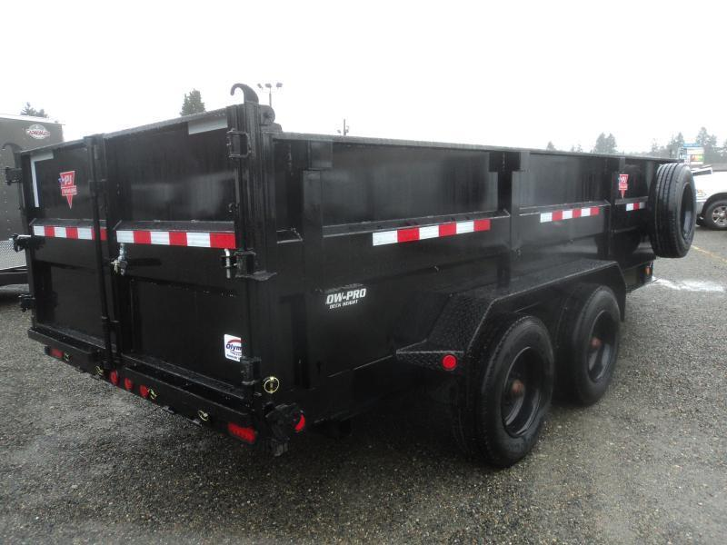 "2021 PJ 7x16 20K Heavy Duty 10"" I-Beam Low-Pro Dump Trailer"