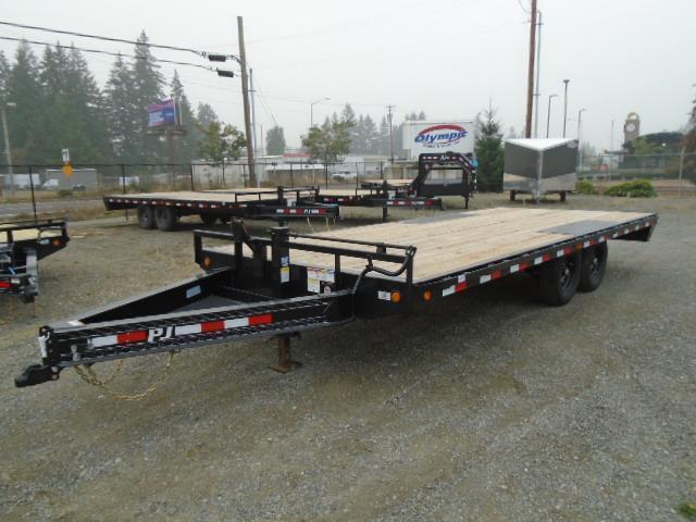 "2021 PJ 8.5X20 14K 8"" I-Beam Deckover (F8) Equipment Trailer"