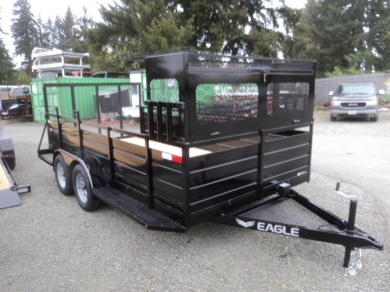 2020 Eagle 7X16 7K w/Landscape Package Utility Trailer