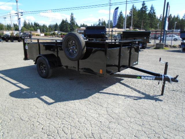 2022 Summit Alpine 6x10 W/Split Ramp/Spare Tire & Mount Utility Trailer