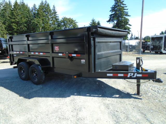 2022 PJ Trailers 7x14 High Side Dump w/4ft Sides/10K Jack Upgrade/Tarp Kit/Support Legs