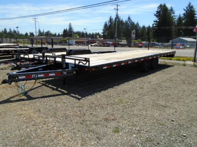 2021 PJ Trailer 8.5X24 14K Deckover w/Slide in Ramps