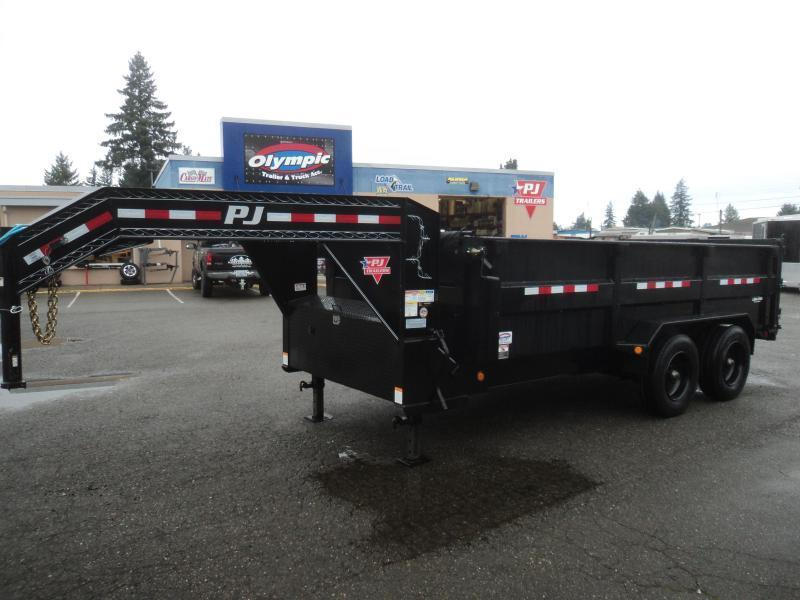 2021 PJ 7x16 22K Gooseneck Heavy Duty Low-Pro Dump Trailer