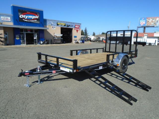 2021 PJ Trailers 7X14 with Side Mount ATV Ramps Utility Trailer