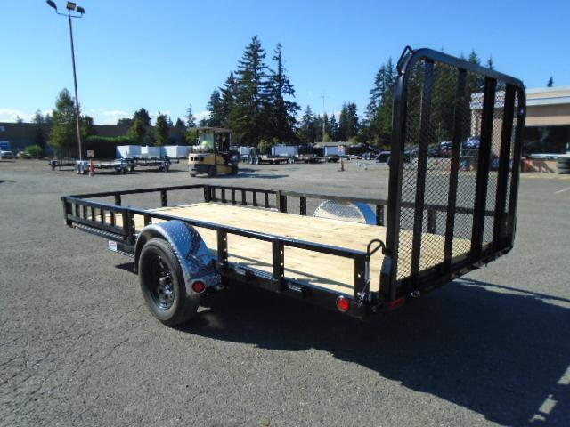 2021 PJ Trailers 7X14 with Side Mount ATV Ramps/Fold In Gate