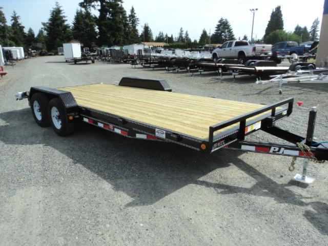 2021 PJ Trailers 7X18 10K Channel Equipment Trailer