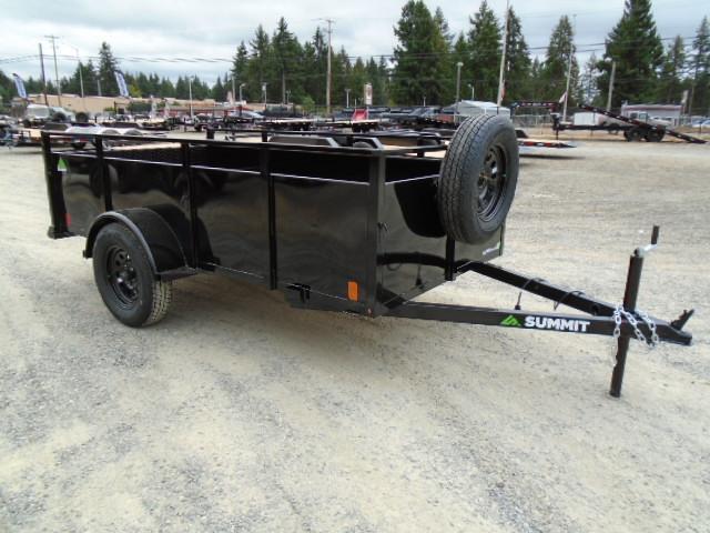 2022 Summit Alpine 5x10 Single Axle W/Split Ramp/Spare Tire & Mount Utility Trailer