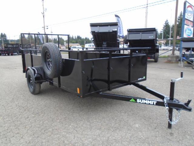 2022 Summit Alpine 6x12 Single Axle Utility Trailer With Spare Tire & Mount