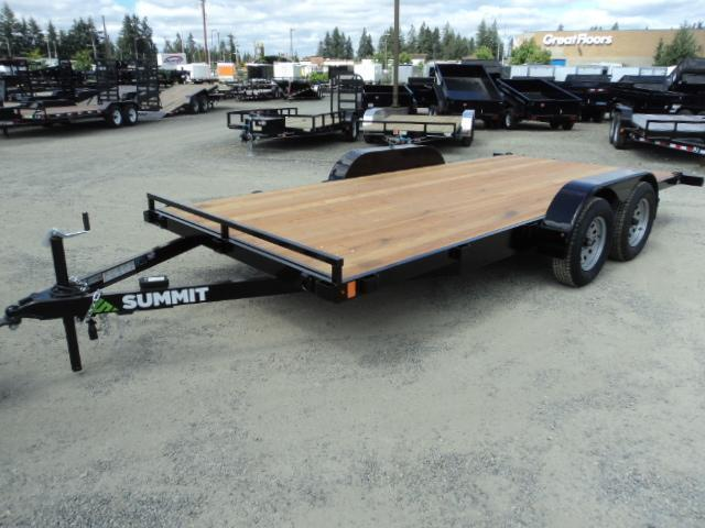 2021 Summit Flatbed 7x18 7K Car / Racing Trailer