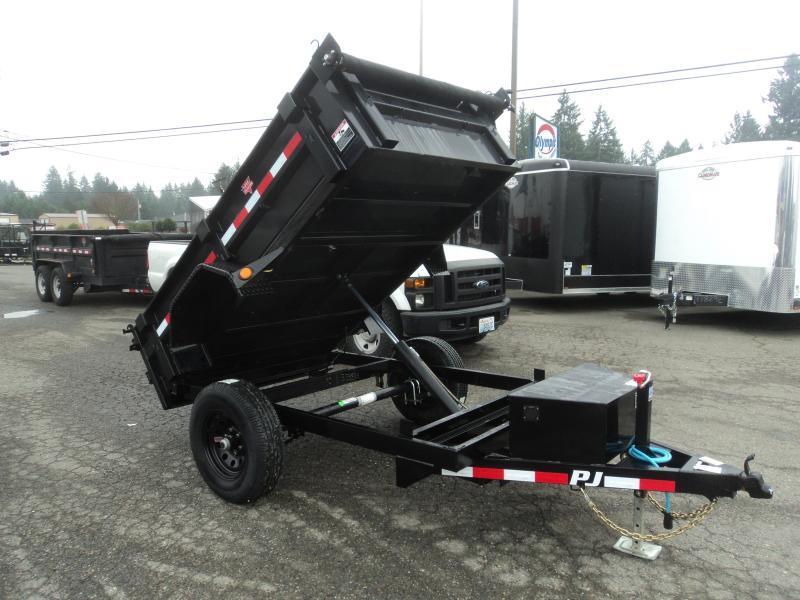 2021 PJ Trailers 5x8 5K w/Tarp Kit Dump Trailer